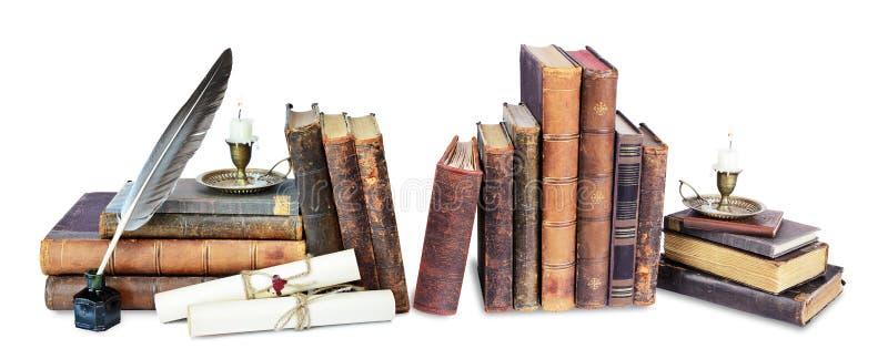 Состав старых книг стоковое фото rf