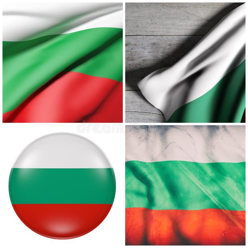 Состав флагов Болгарии бесплатная иллюстрация