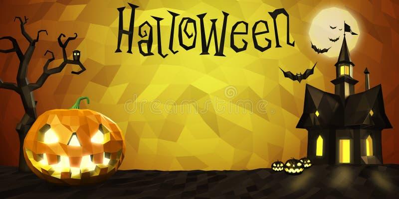 Состав хеллоуина низкий поли бесплатная иллюстрация