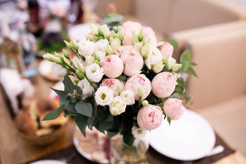 Состав цветка свадьбы, украшение цветка свадьбы стоковое изображение