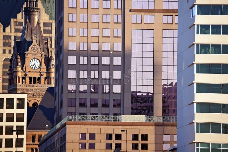 состав milwaukee зданий стоковые фото