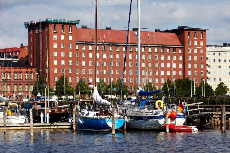 Состыкованные яхты стоковое фото rf