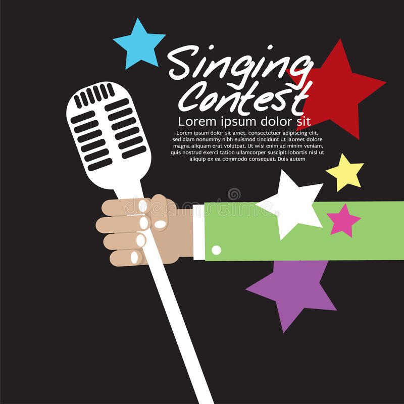 Состязание петь схематическое. иллюстрация штока