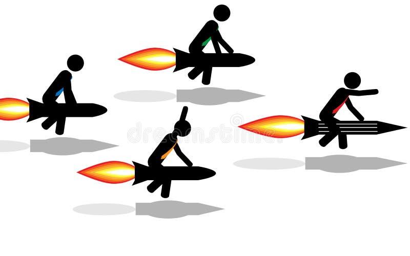 Состязание Ракет иллюстрация вектора