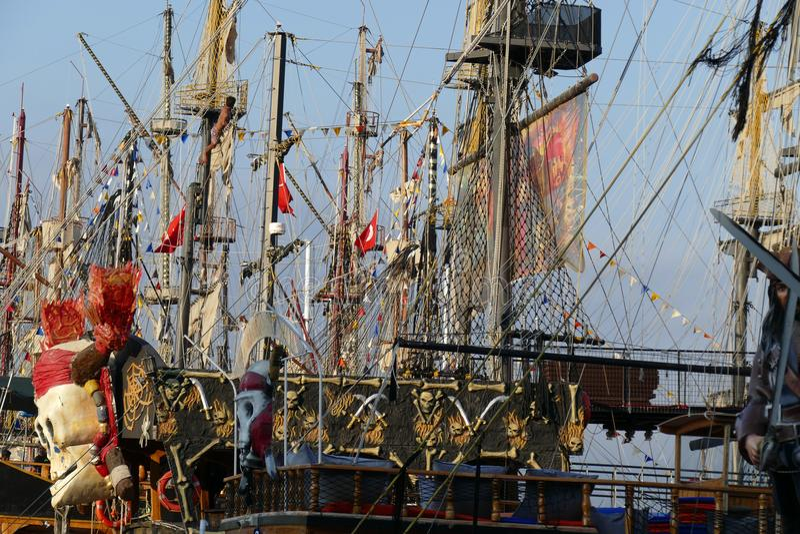 Сосуд ветрила пирата стоковые фото