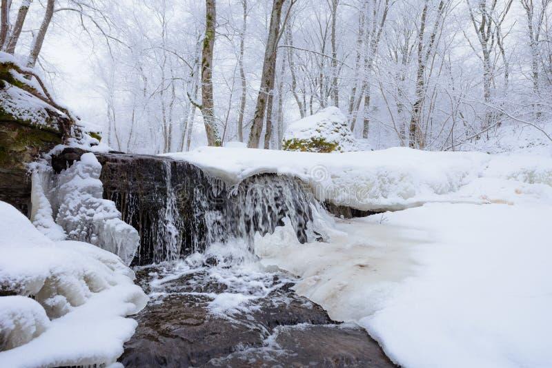 Сосульки на водопаде стоковые изображения
