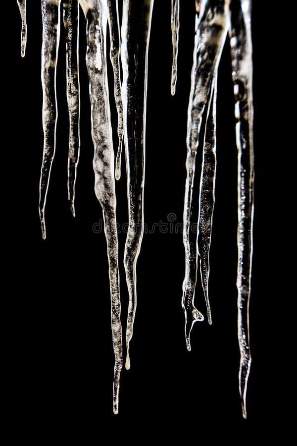 Сосульки - чернота стоковая фотография rf
