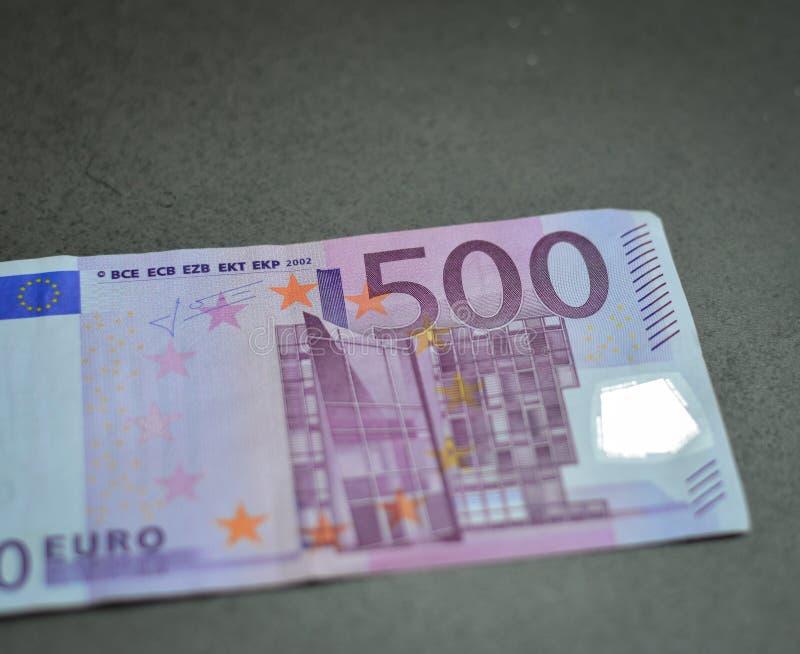5 сотен 500 банкнот евро стоковые изображения