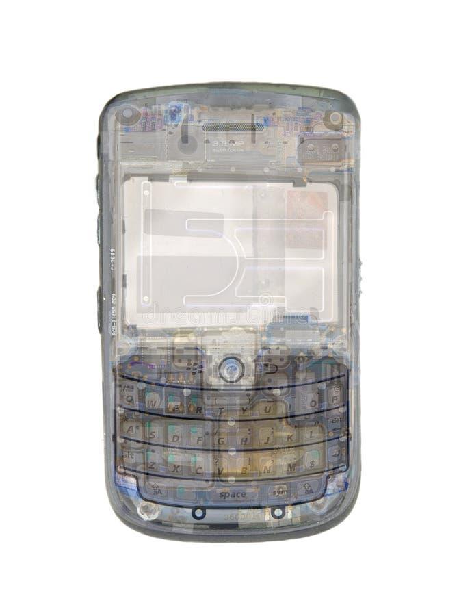 Сотовый телефон рентгеновского снимка стоковое фото