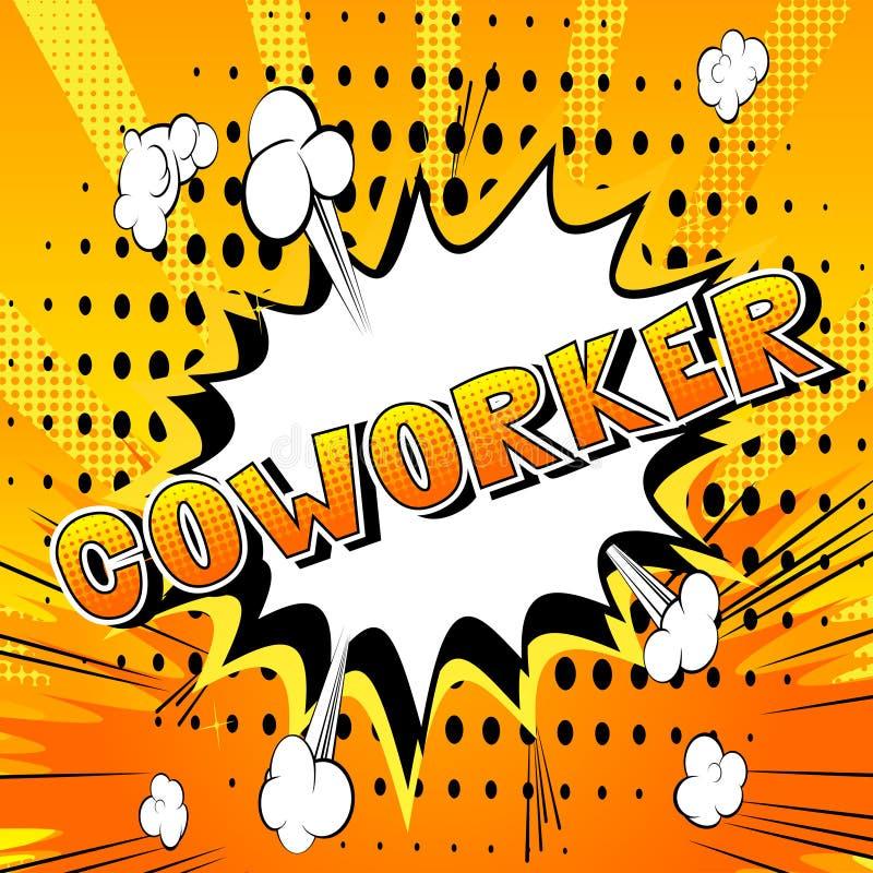 Сотрудник - слово стиля комика иллюстрация вектора