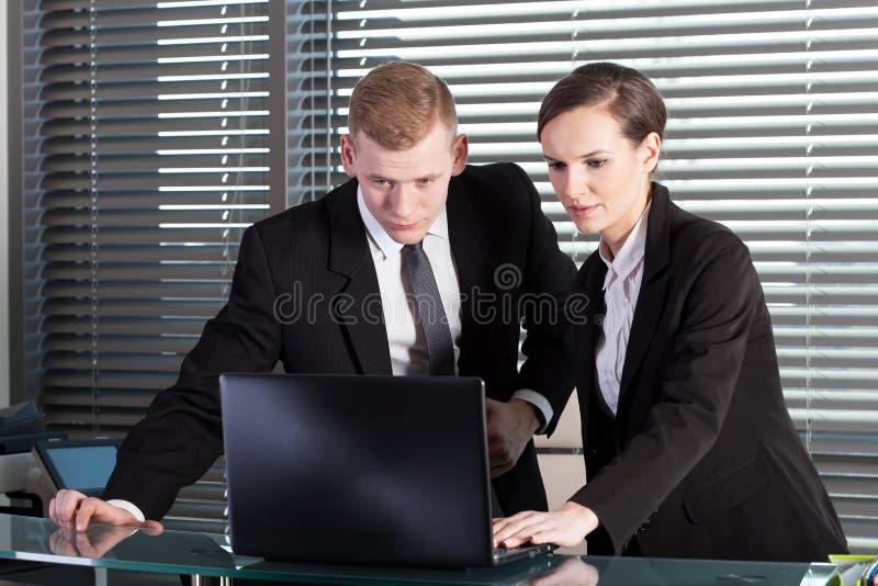 Сотрудники во время работы стоковые фотографии rf