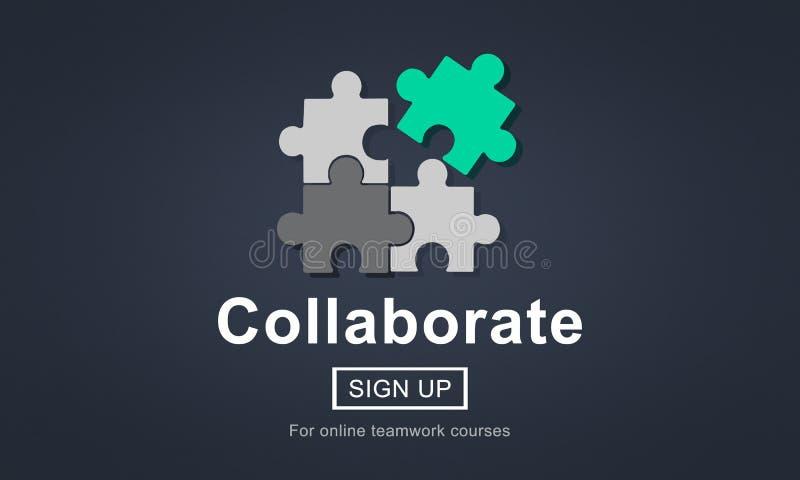 Сотрудничайте соедините концепцию единения поддержки партнерства иллюстрация вектора