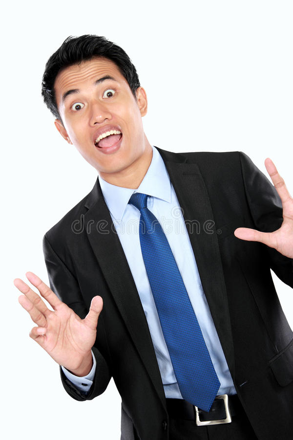 Download Сотрясенный молодой бизнесмен Стоковое Изображение - изображение насчитывающей выражение, adulteration: 37927101