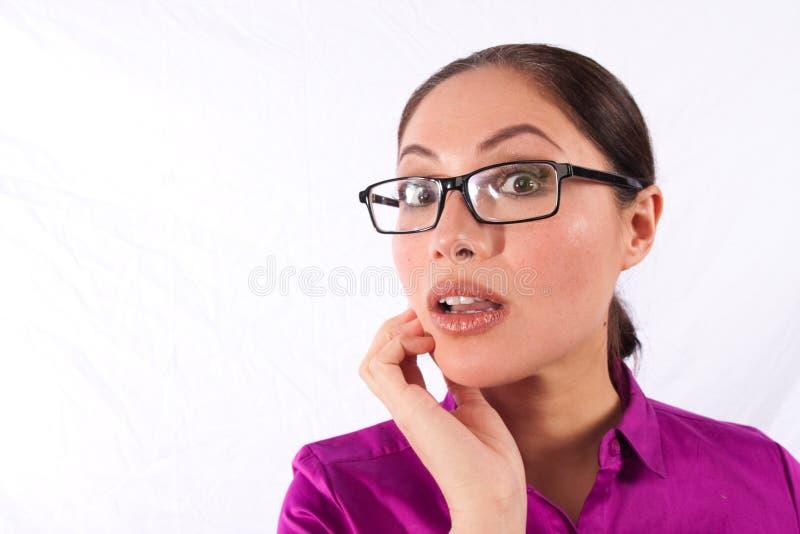 сотрястенная женщина стоковое изображение