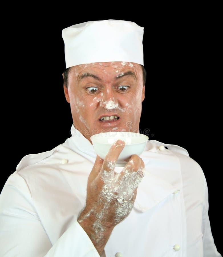 сотрястенный шеф-повар стоковое фото rf