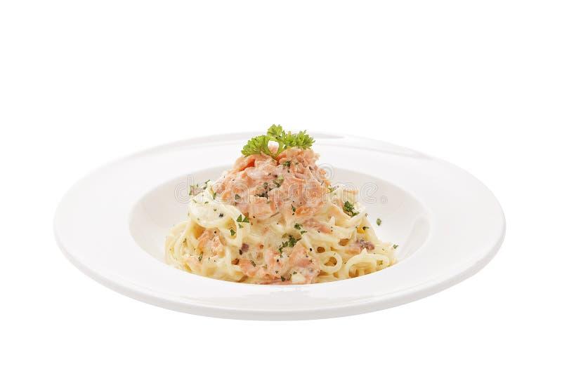 Соус спагетти salmon cream стоковая фотография