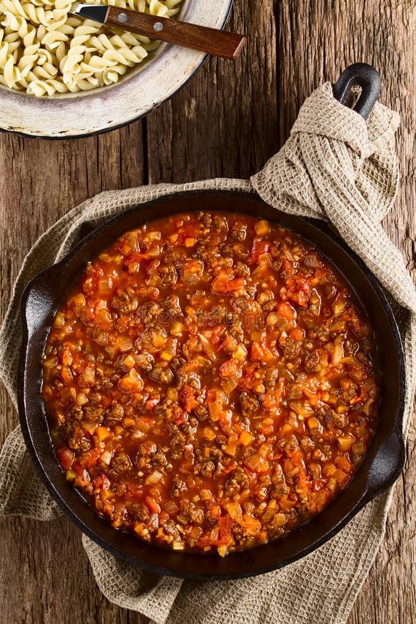 Соус Bolognese мяса сои Vegan стоковые фото