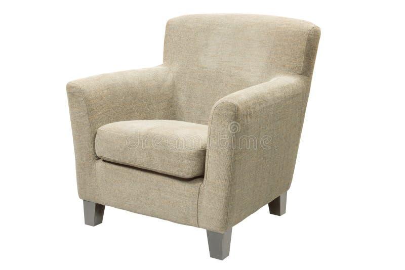 Софа, кресло ткани изолированное на белизне стоковые изображения rf