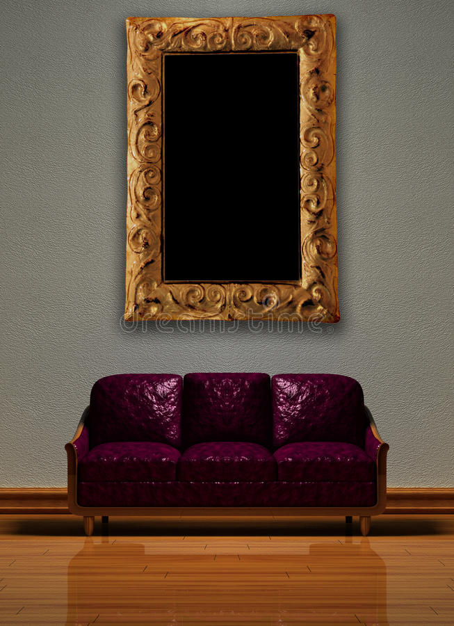 софа пурпура изображения рамки иллюстрация штока