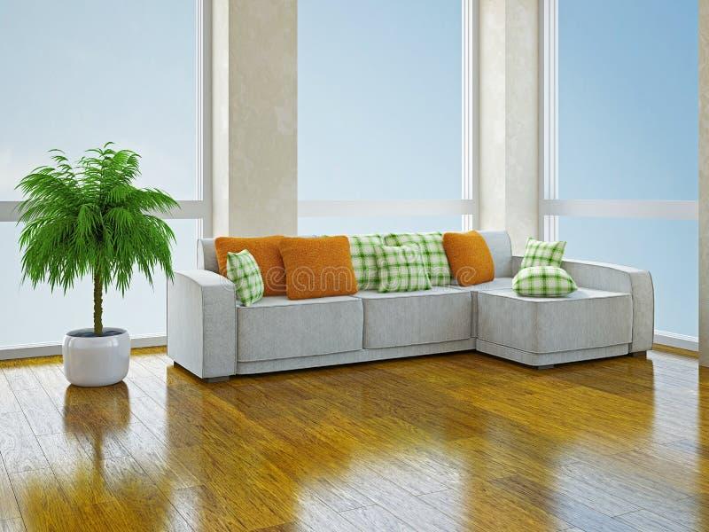 Софа с подушками стоковое изображение