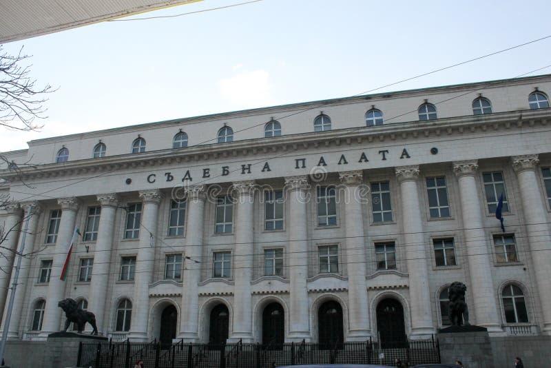 София, Болгария - 1-ое марта 2015: Здание здания суда стоковое фото