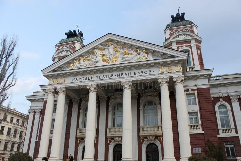 София, Болгария - 1-ое марта 2015: Национальный театр Иван Vazov стоковые фото