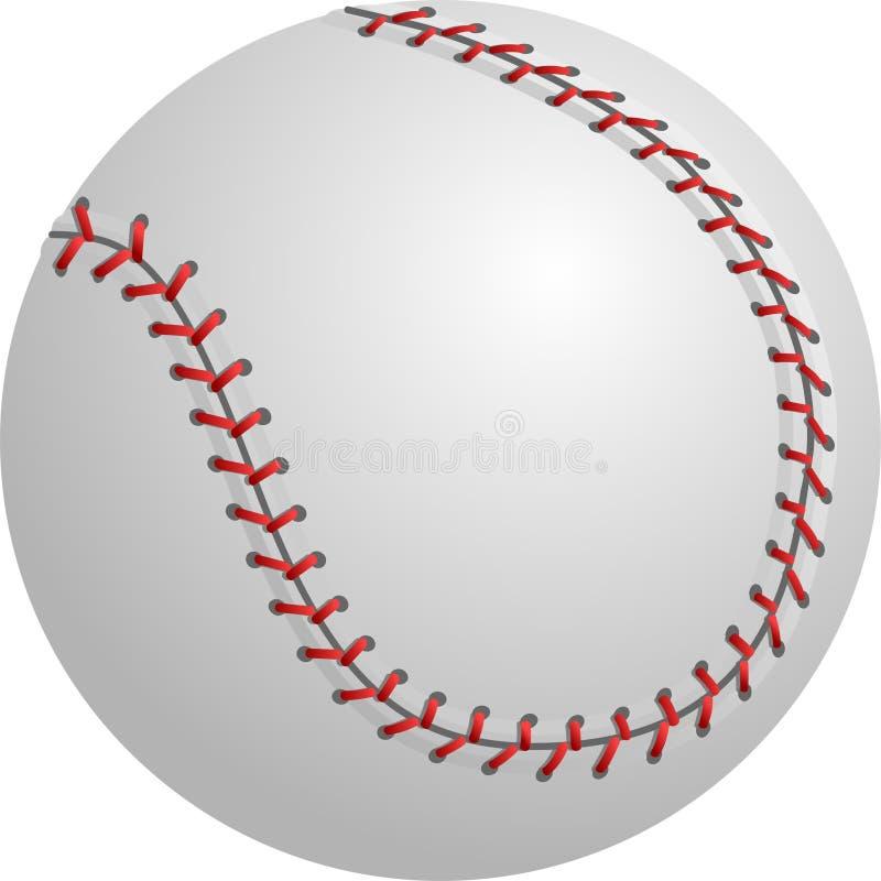 софтбол изолированный бейсболом иллюстрация штока