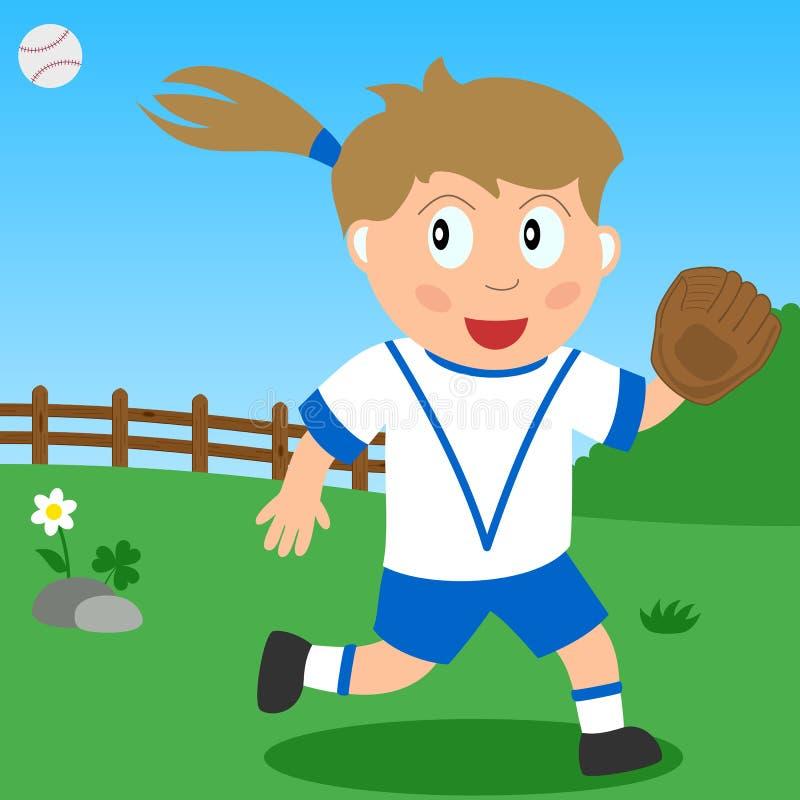 софтбол парка девушки иллюстрация штока
