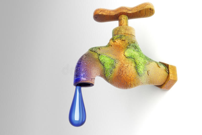 Сохранение воды иллюстрация вектора