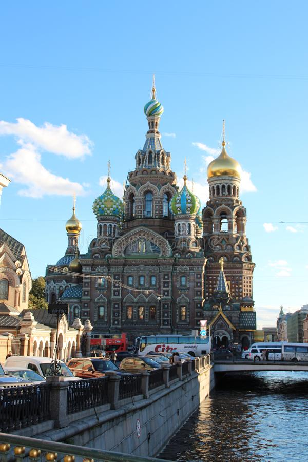 Сохраненный на крови Санкт-Петербурге стоковые изображения