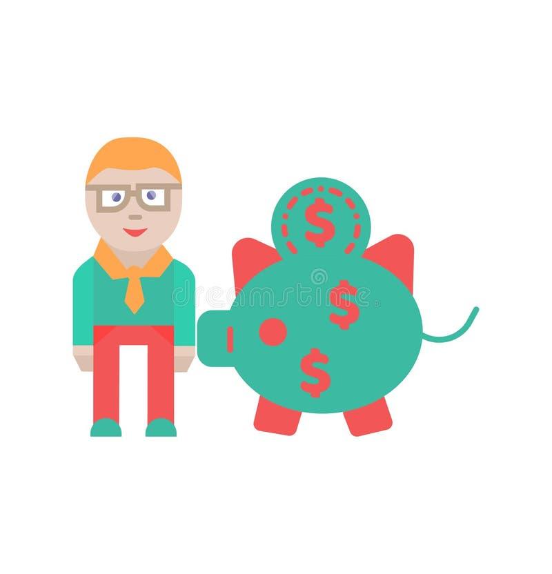 Сохраните знак и символ вектора иконы денег иллюстрация вектора