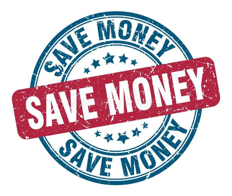 сохраните печать денег иллюстрация штока