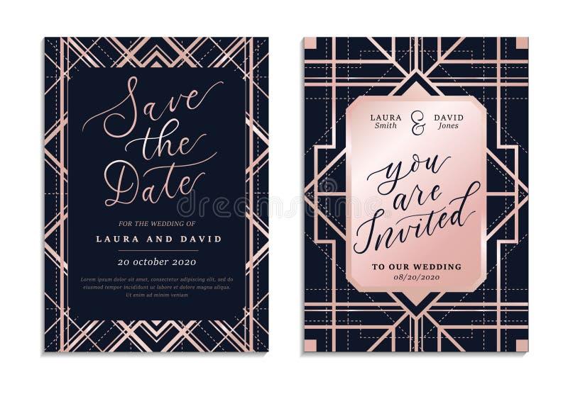 Сохранить приглашение на свадьбу после открытки иллюстрация штока