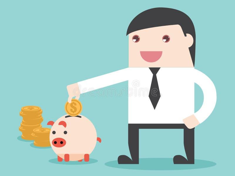 Сохраньте деньги к достижению иллюстрация штока