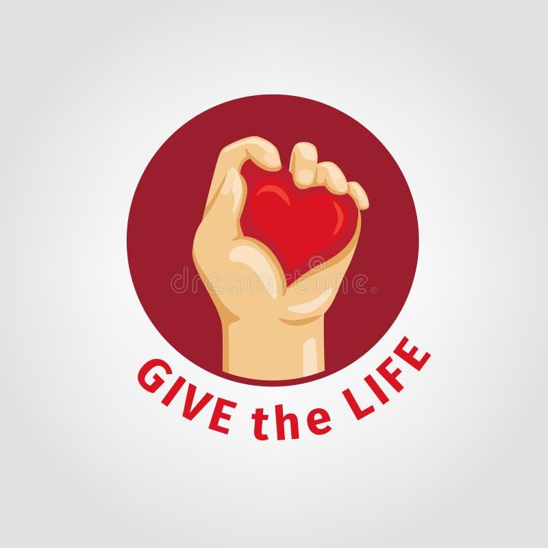 Сохраньте жизнь и дайте кровь иллюстрация вектора