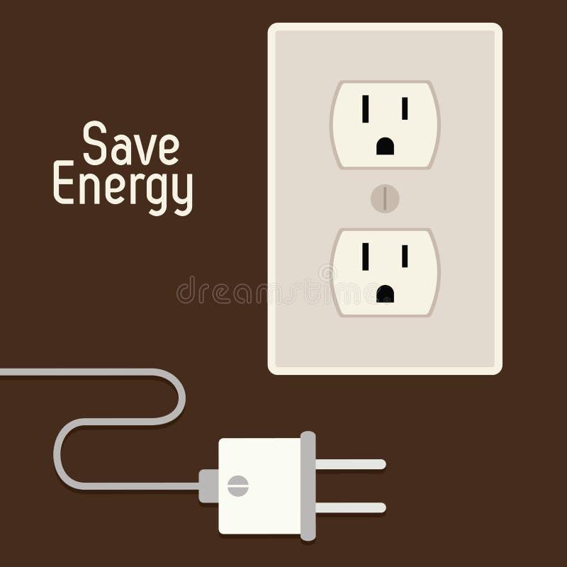 Сохраньте дизайн энергии бесплатная иллюстрация