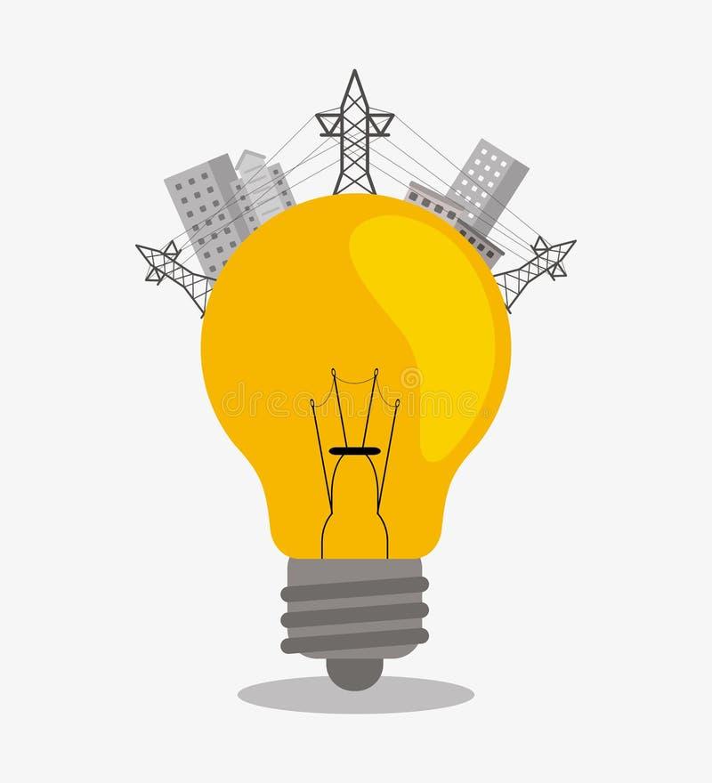 Сохраньте дизайн энергии иллюстрация вектора