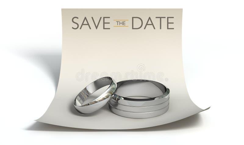 Сохраньте кольца даты и заметьте бесплатная иллюстрация