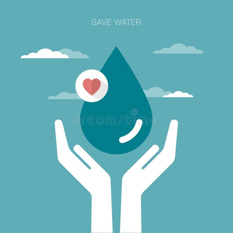 Сохраньте предпосылку воды иллюстрация вектора