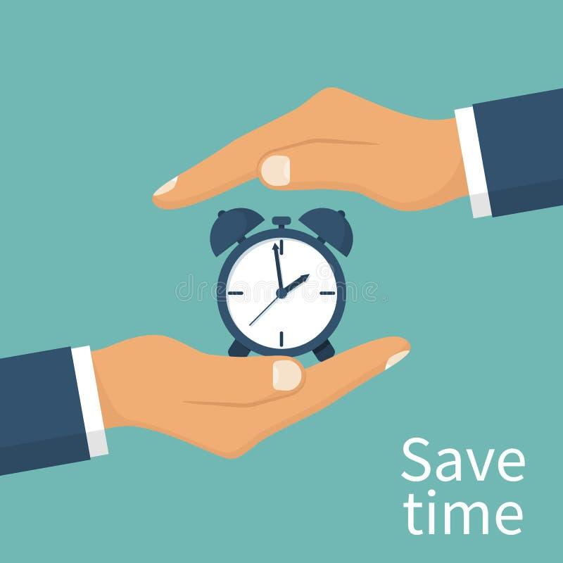 Сохраньте принципиальную схему времени иллюстрация вектора