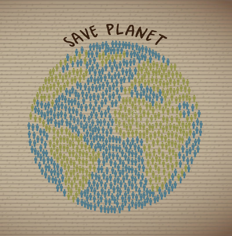 Сохраньте планету иллюстрация штока