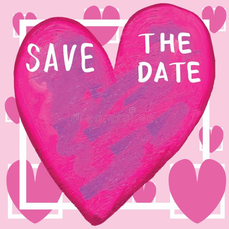 Сохраньте рамку влюбленности даты бесплатная иллюстрация