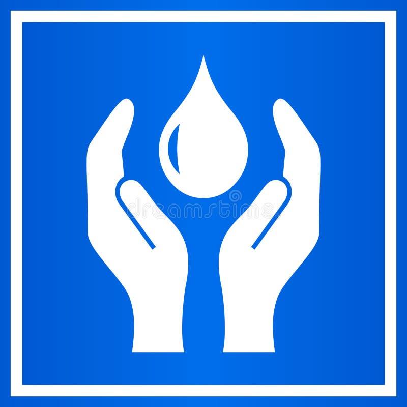 Сохраньте эмблему воды иллюстрация вектора