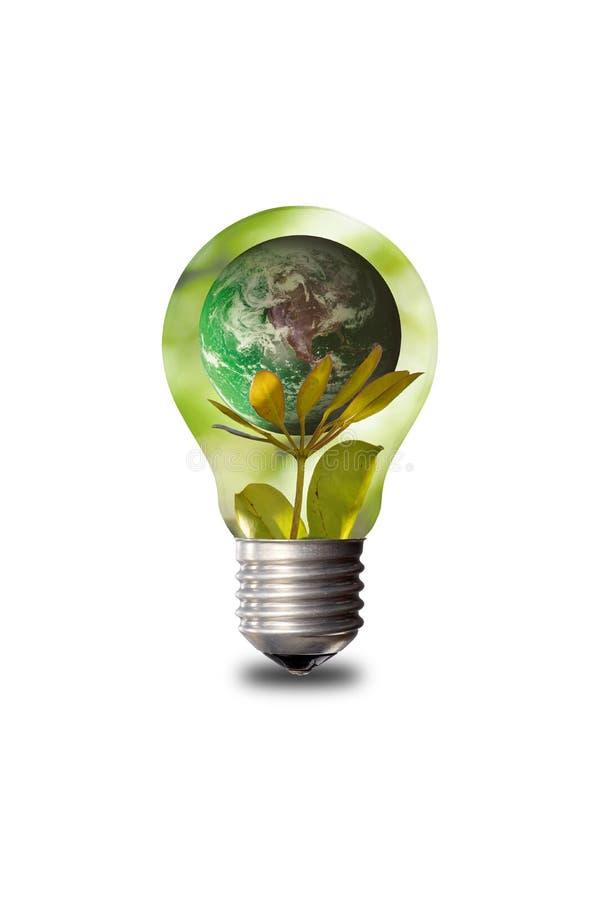 Сохранять природу с помощью энергосберегающему стоковые фото