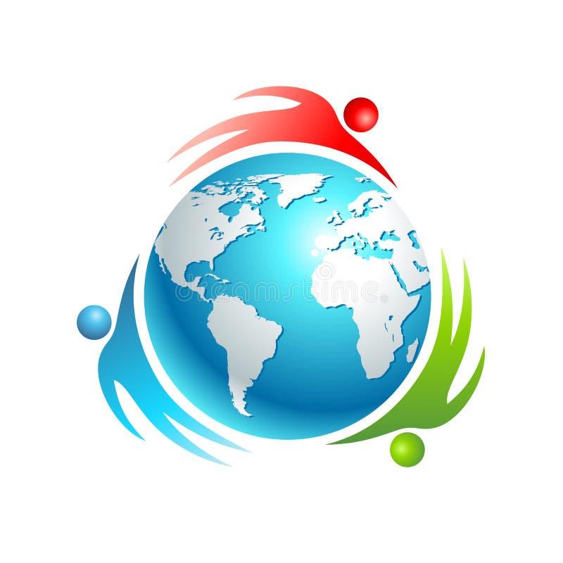 Социальная икона мира. Люди вектора принципиальной схемы иллюстрация вектора