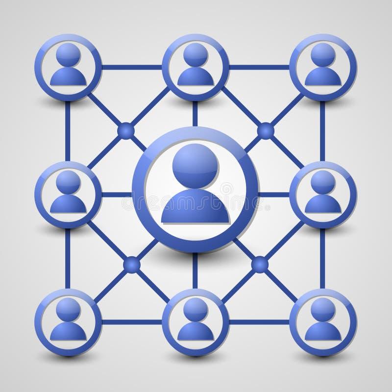 Социальная икона сети иллюстрация штока