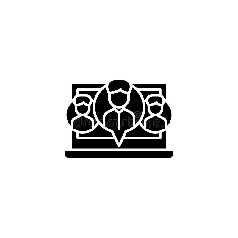 Социальная концепция значка черноты network-35 Социальный плоский символ вектора network-35, знак, иллюстрация бесплатная иллюстрация