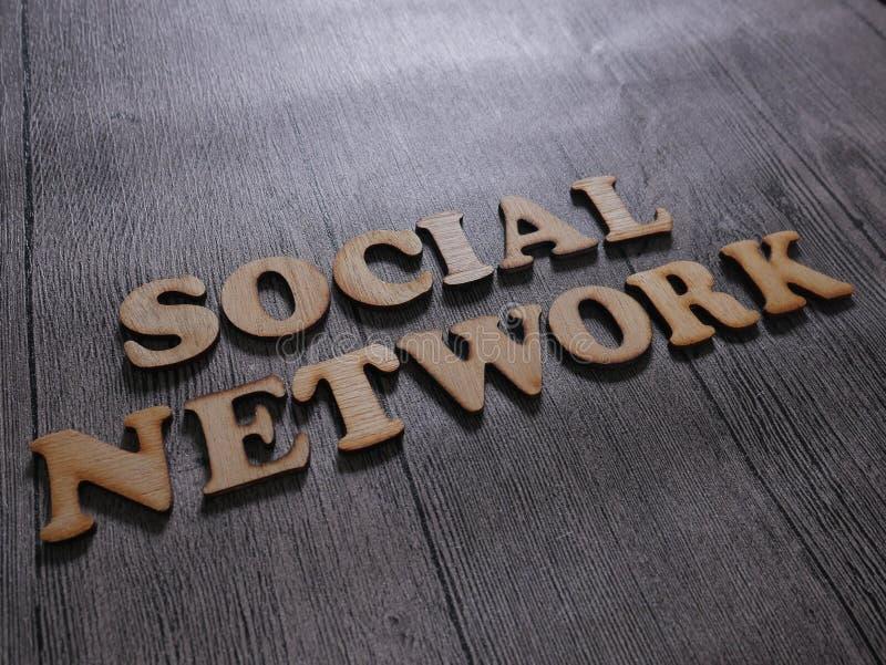 Социальная концепция оформления слов сети стоковые фотографии rf