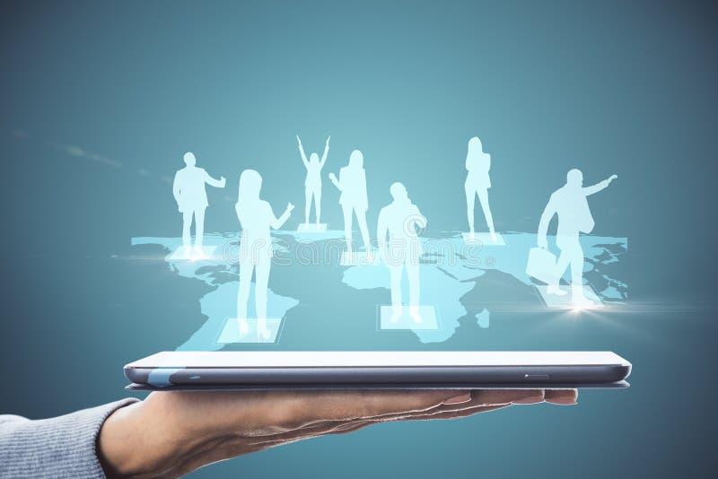 Социальная концепция сети и средств массовой информации стоковое изображение rf