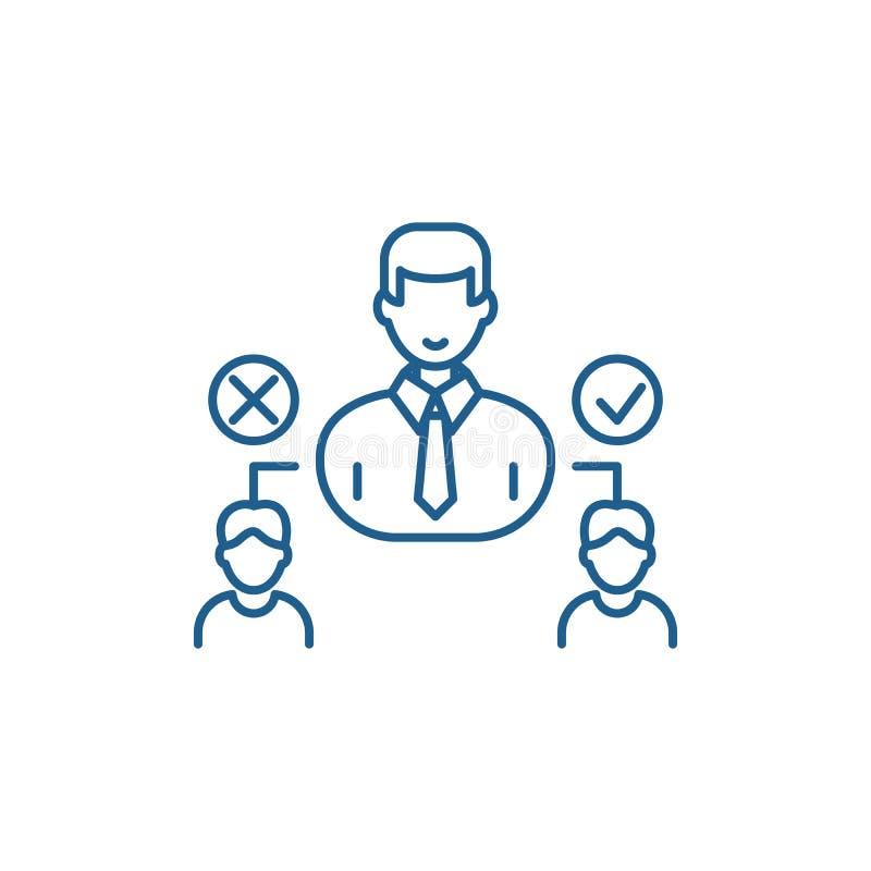 Социальная линия концепция иерархии значка Символ вектора социальной иерархии плоский, знак, иллюстрация плана иллюстрация вектора
